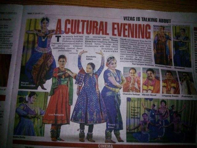 Articolo rivista indiana Lisa Pellegrini Danza Teatro kathak
